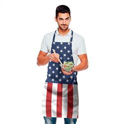 Фартук кулинарный Флаг США цвета 3D — фото 2