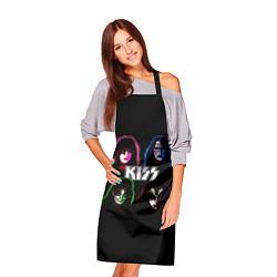 Фартук кулинарный KISS: Acid Colours цвета 3D-принт — фото 2