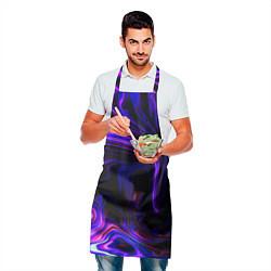 Фартук кулинарный Цветные разводы цвета 3D-принт — фото 2