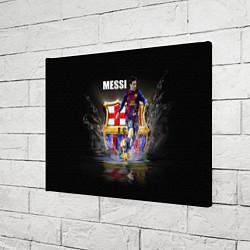Холст прямоугольный Messi FCB цвета 3D-принт — фото 2