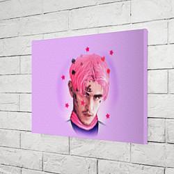 Холст прямоугольный Lil Peep: Pink Edition цвета 3D — фото 2