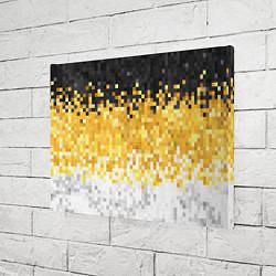 Холст прямоугольный Имперский флаг пикселами цвета 3D — фото 2