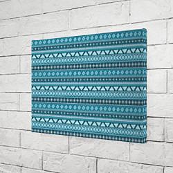 Холст прямоугольный Винтажный орнамент цвета 3D — фото 2