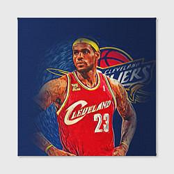Холст квадратный LeBron 23: Cleveland цвета 3D — фото 2