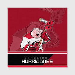 Холст квадратный Carolina Hurricanes цвета 3D — фото 2