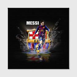 Холст квадратный Messi FCB цвета 3D — фото 2