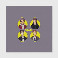 Холст квадратный Skam Faces цвета 3D — фото 2