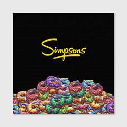 Холст квадратный Simpsons Donuts цвета 3D — фото 2
