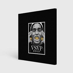 Холст квадратный ASAP Rocky: Gold Edition цвета 3D-принт — фото 1