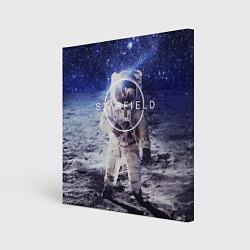Холст квадратный Starfield: Astronaut цвета 3D — фото 1