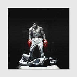 Холст квадратный Muhammad Ali цвета 3D-принт — фото 2