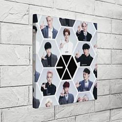 Холст квадратный EXO Boys цвета 3D — фото 2