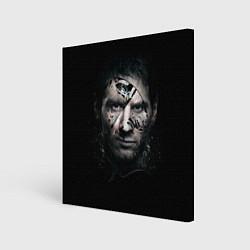 Холст квадратный Messi Black цвета 3D — фото 1