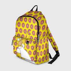 Рюкзак Пончики Гомера Симпсона цвета 3D-принт — фото 1