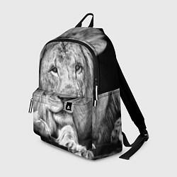 Рюкзак Милый лев цвета 3D-принт — фото 1