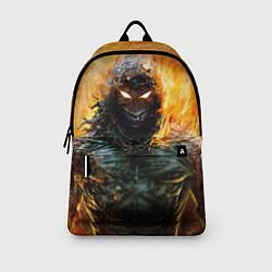 Рюкзак Disturbed: Monster Flame цвета 3D-принт — фото 2