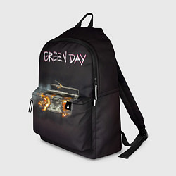 Рюкзак Green Day магнитофон в огне цвета 3D-принт — фото 1