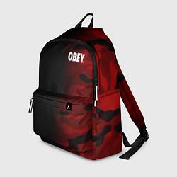 Рюкзак Obey Military Black Red цвета 3D — фото 1