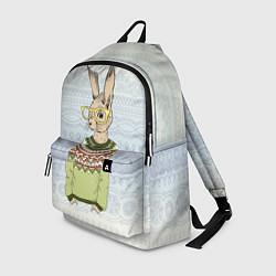 Рюкзак Кролик хипстер цвета 3D-принт — фото 1