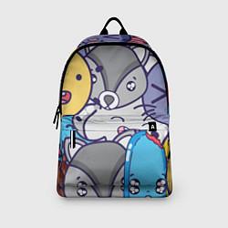 Рюкзак Влюбленный енот цвета 3D-принт — фото 2