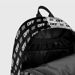 Рюкзак Off-White: Black & White цвета 3D-принт — фото 2