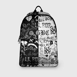 Рюкзак LIL PEEP LOGOBOMBING цвета 3D-принт — фото 2