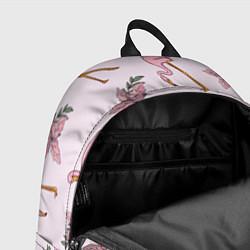 Рюкзак Розовый фламинго цвета 3D-принт — фото 2
