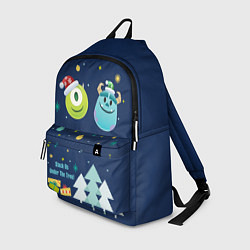 Рюкзак Monsters Christmas цвета 3D-принт — фото 1