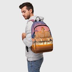 Рюкзак Мем собака качок DOGE цвета 3D — фото 2