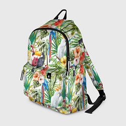 Рюкзак Попугаи в тропиках цвета 3D-принт — фото 1