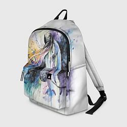 Рюкзак Акварельная лошадь цвета 3D-принт — фото 1