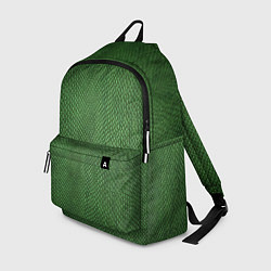 Рюкзак Змеиная зеленая кожа цвета 3D-принт — фото 1