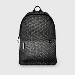 Рюкзак Черная кожа цвета 3D-принт — фото 2