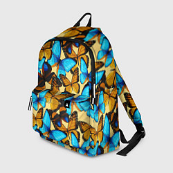 Рюкзак Бабочки цвета 3D-принт — фото 1