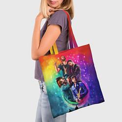 Сумка-шопер Coldplay Stories цвета 3D-принт — фото 2