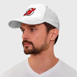 Бейсболка New Jersey Devils цвета белый — фото 1