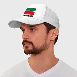 Бейсболка Флаг Татарстана цвета белый — фото 1