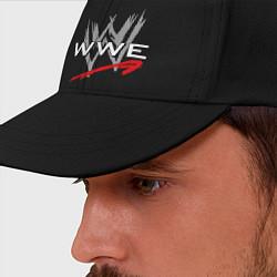 Бейсболка WWE Fight цвета черный — фото 2