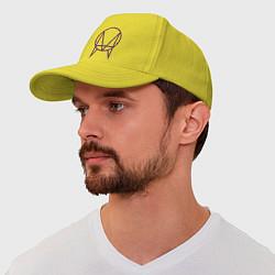 Бейсболка Skrillex Symbol цвета желтый — фото 1
