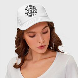Бейсболка Slipknot Pentagram цвета белый — фото 2