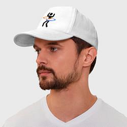 Бейсболка Portal Рoops цвета белый — фото 1