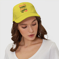 Бейсболка Адская кокетка цвета желтый — фото 2