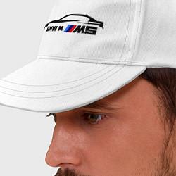 Бейсболка BMW M5 цвета белый — фото 2