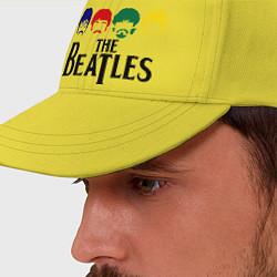 Бейсболка The Beatles Heads цвета желтый — фото 2