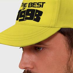Бейсболка The best of 1998 цвета желтый — фото 2