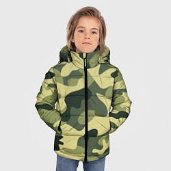 Куртка зимняя для мальчика Камуфляж: зеленый/хаки цвета 3D-черный — фото 2