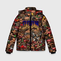 Куртка зимняя для мальчика DOOM: Pixel Monsters цвета 3D-черный — фото 1