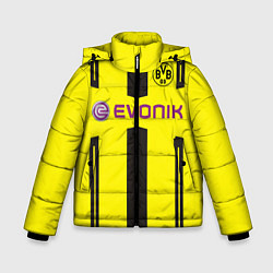 Куртка зимняя для мальчика BVB FC: Evonik цвета 3D-черный — фото 1