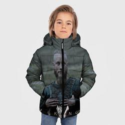 Куртка зимняя для мальчика Vikings: Ragnarr Lodbrok цвета 3D-черный — фото 2