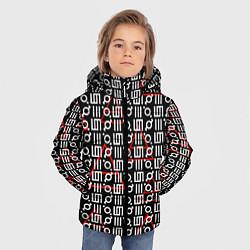 Куртка зимняя для мальчика 30 STM: Symbol Pattern цвета 3D-черный — фото 2